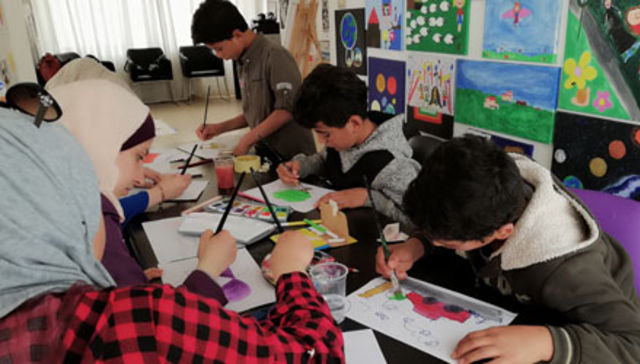 Educational and therapeutic activities for Syrian refugee children