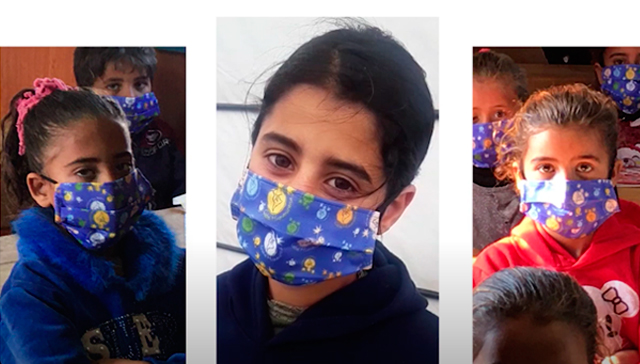 2000 face masks for Syrian refugee children. Will you help us?